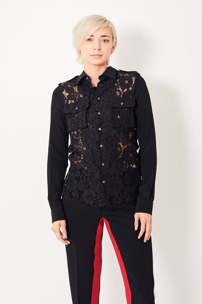 N°21 Lace Panel Shirt