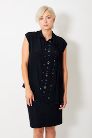 N°21 Sleeveless Blouse w/ Embellishments