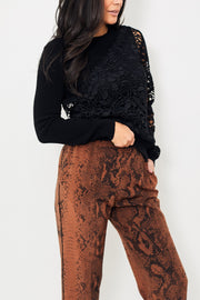 N°21 Round Neck Half Lace Sweater