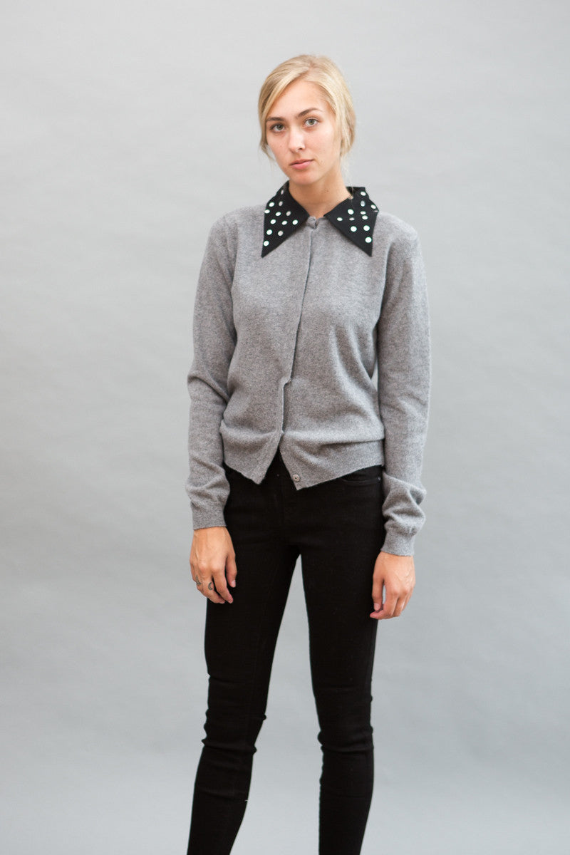 N°21 Cardigan With Mirror Collar