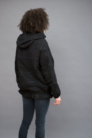 N°21 Eyelet Lace Hooded Jacket