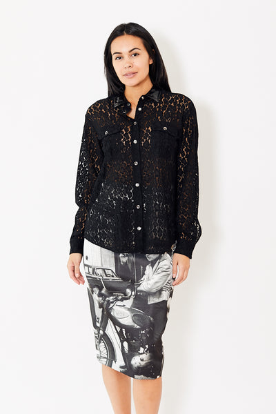 N°21 Lace Shirt with Pockets