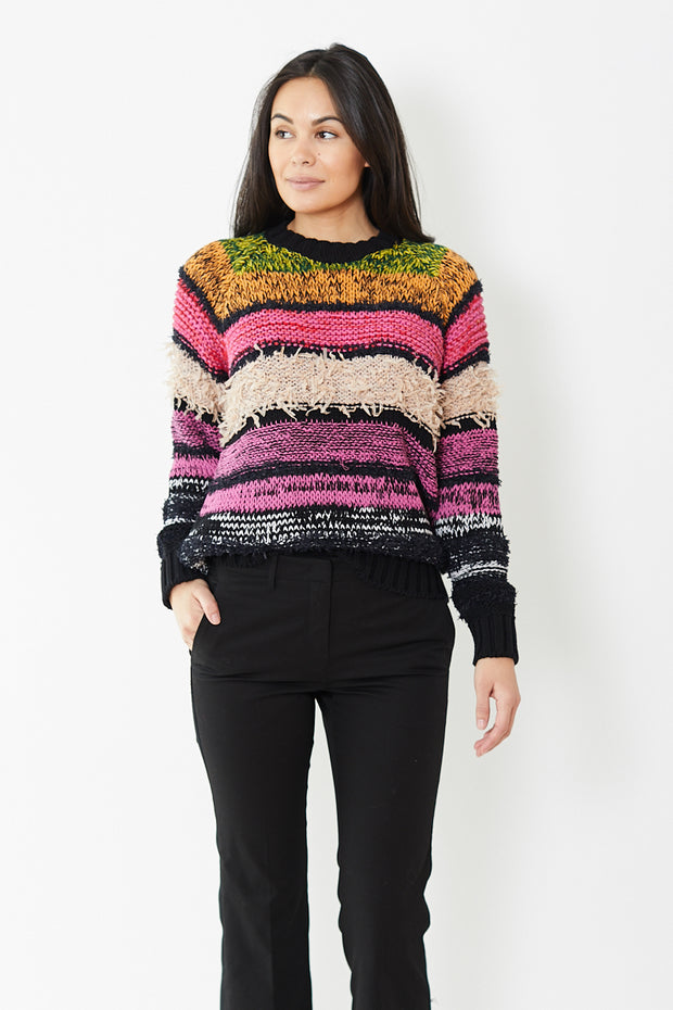 N°21 Long Sleeve Mohair Striped Sweater