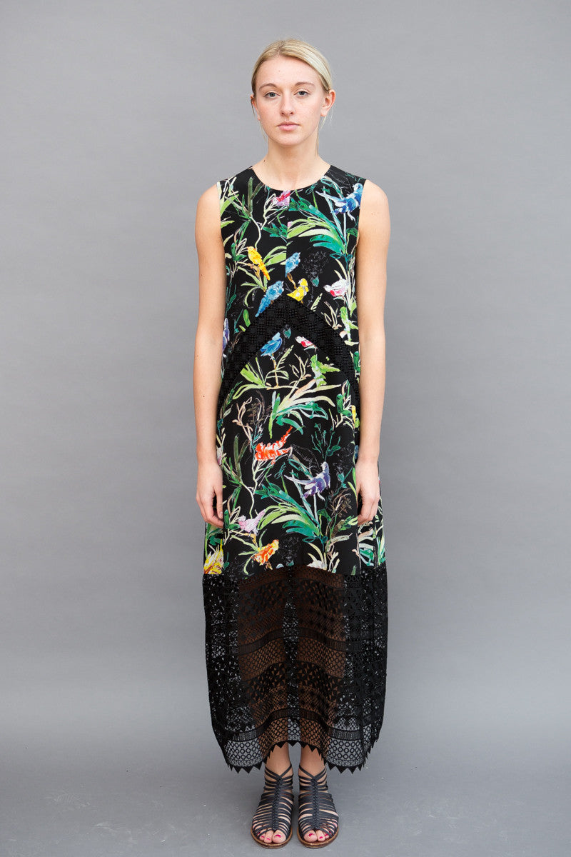 N°21 Print Dress With Lace
