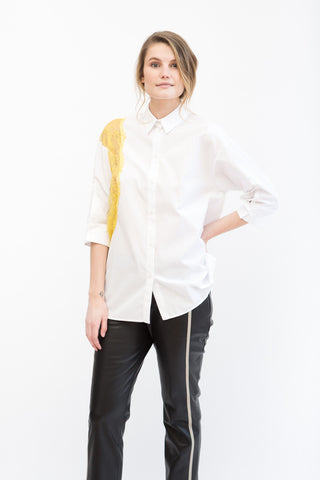N°21 Shirt With Lace Inset