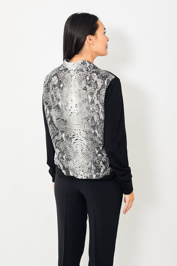 N°21 Snake Print Sweater Shirt