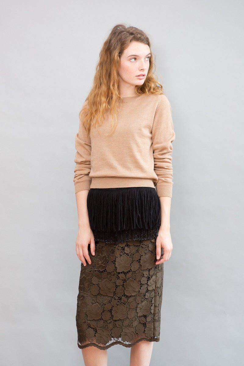 N°21 Sweater With Bottom Detail - grethen house