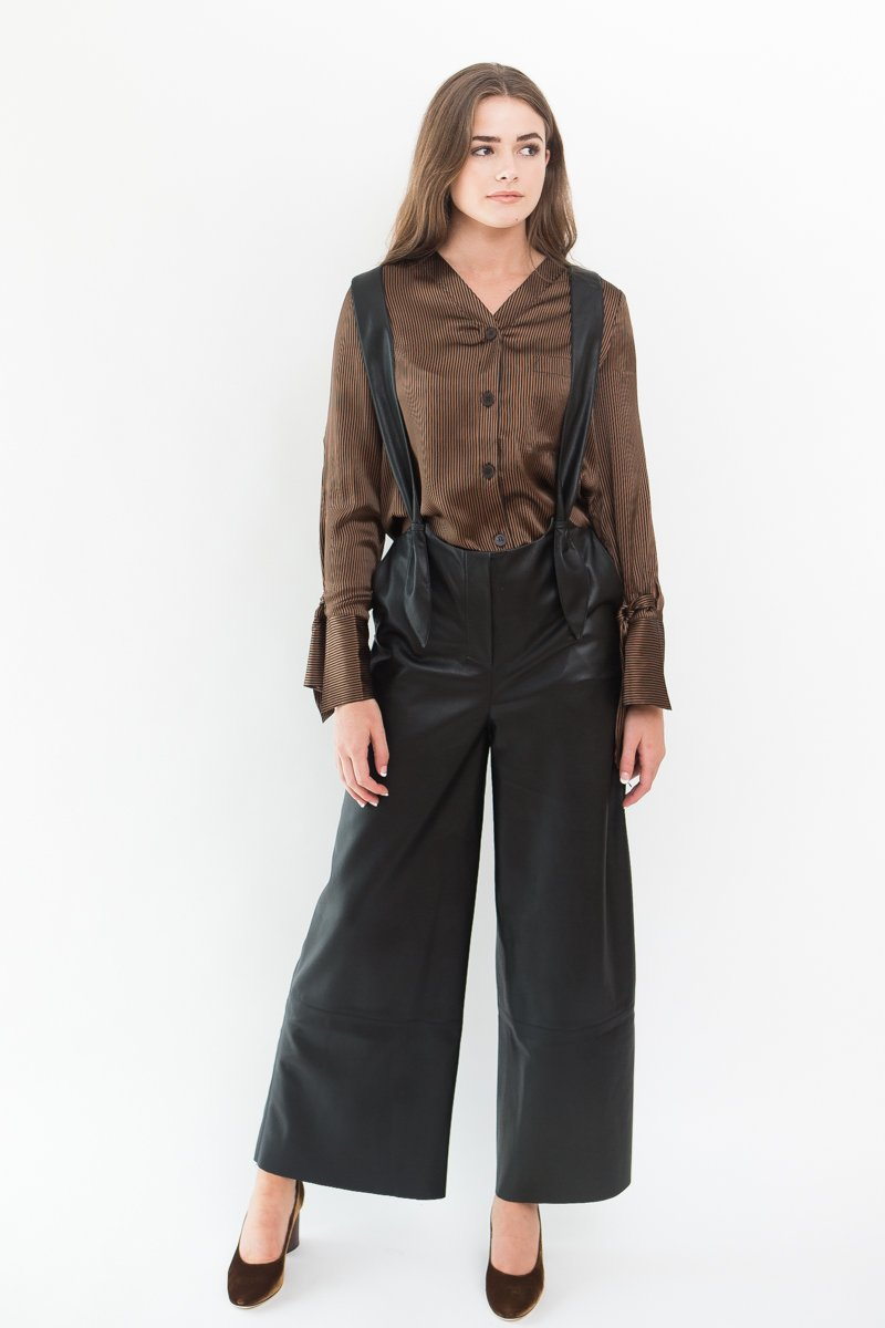 Nanushka Vegan Leather Dungaree Pants