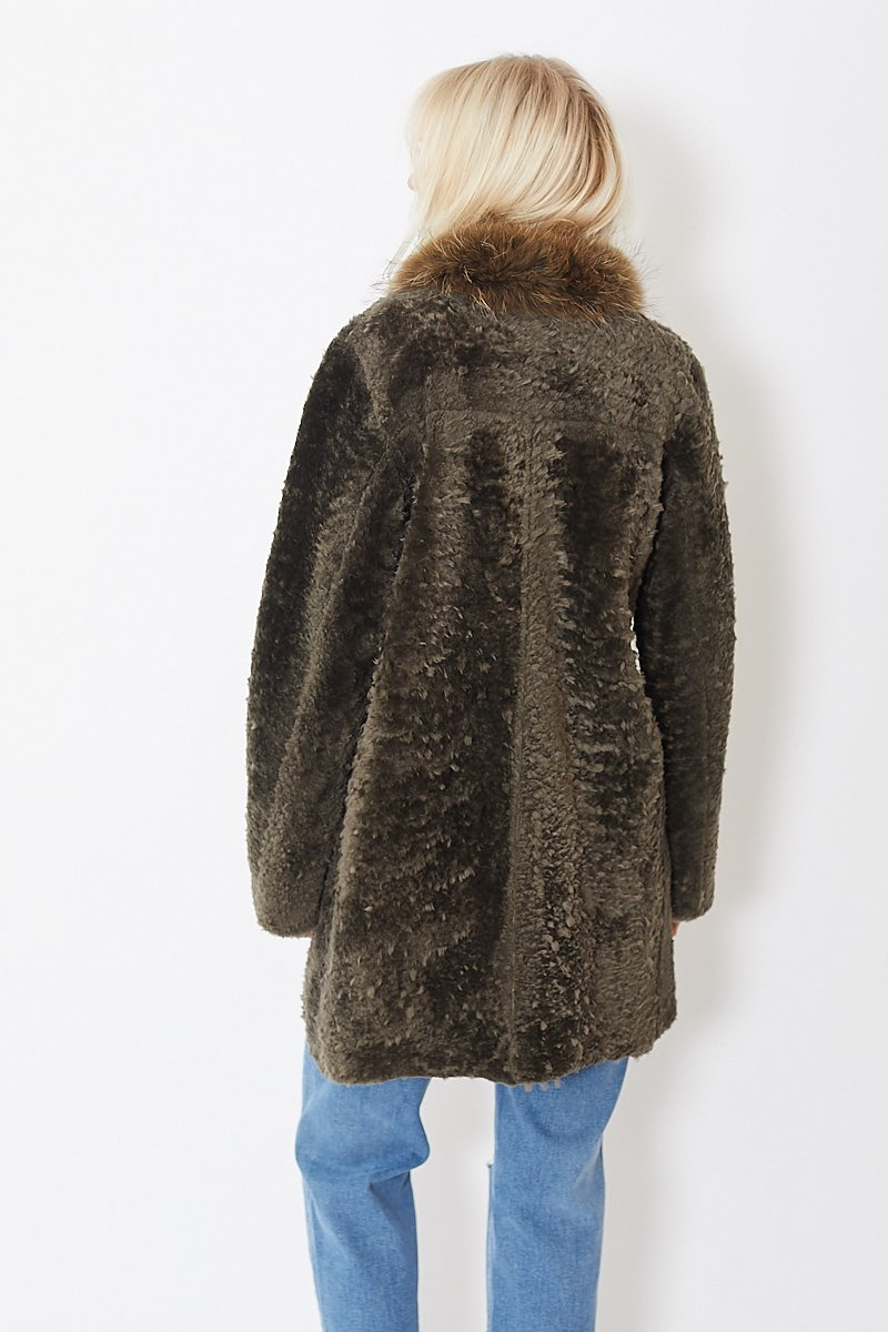 Nigel Preston & Knight Liner Wrap Fur Collar Coat