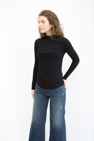 Nomia Long Sleeve Zip Mock Neck