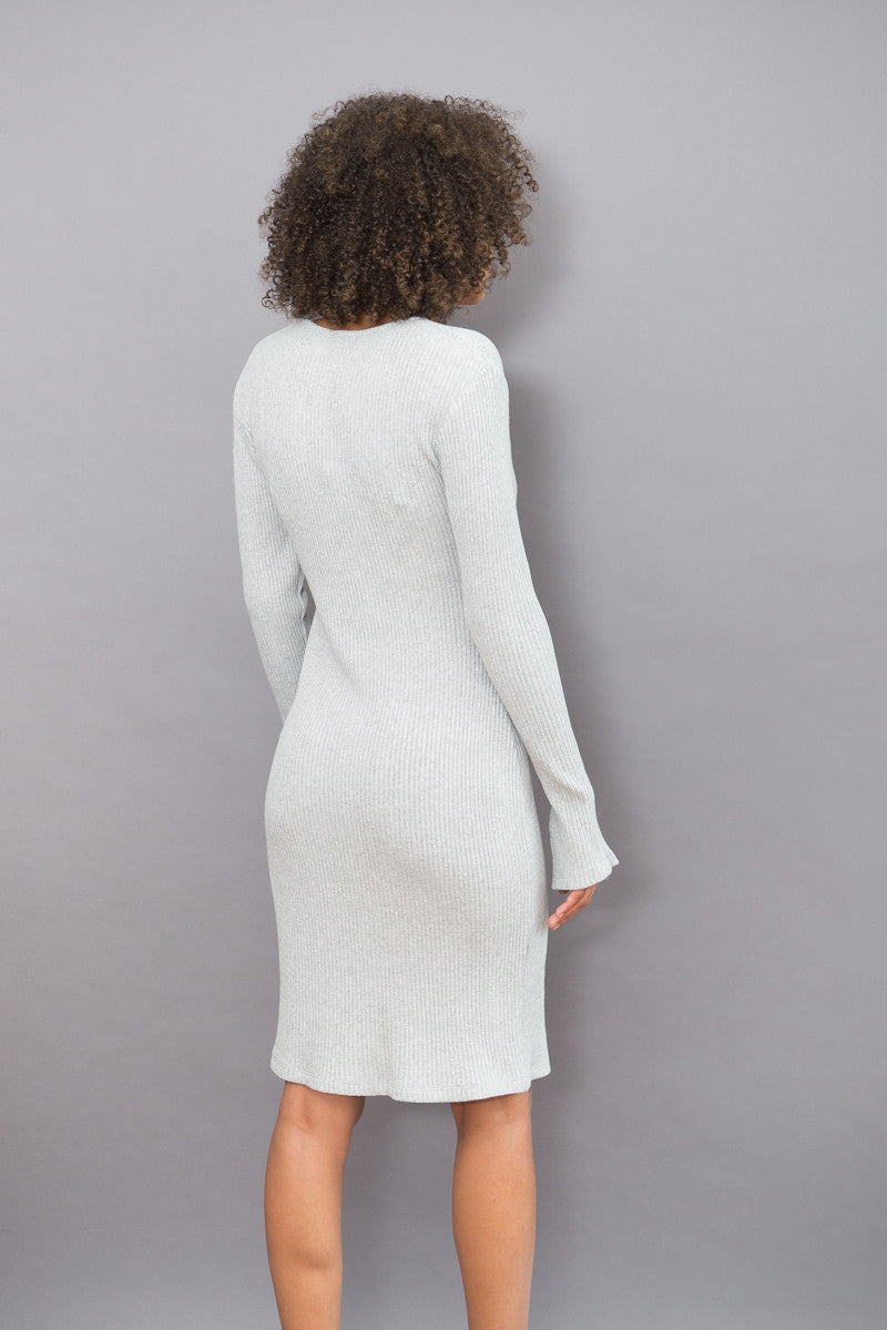 Obakki Sigur Rib V Neck Dress - grethen house