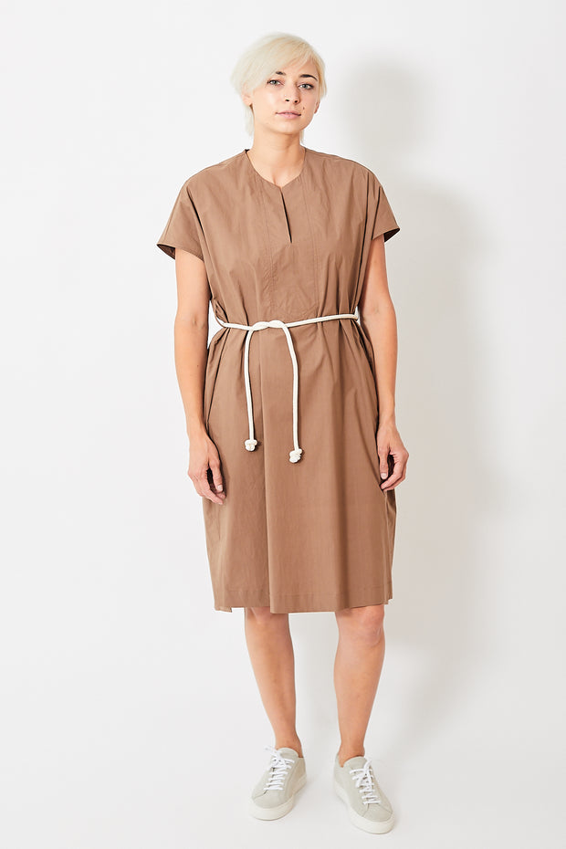 Odeeh Cotton Tie Waist Midi Dress