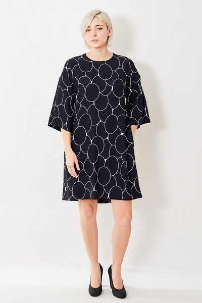 Odeeh Dress w/Wide Cropped Sleeve