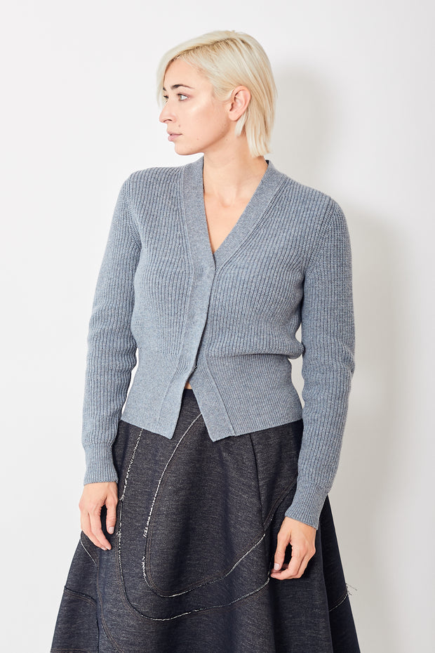 Odeeh V Neck Ribbed Cardigan