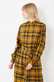 Officine Générale Bonnie Japanese Check Dress - grethen house