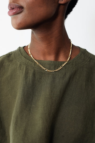 Oie Necklace w/ 18kt Gold fl Layering Chain