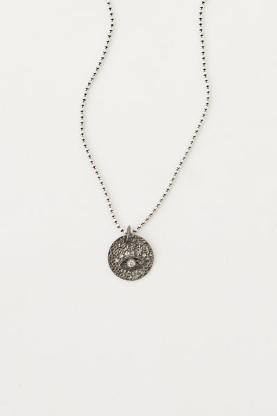 Oie SS, Diamond Evil Eye Necklace