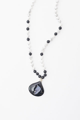 Oie Drusy Stone Long Necklace