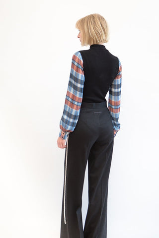 Opening Ceremony Plaid Long Sleeved Body Suit