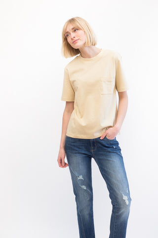 Organic by John Patrick 1 Pocket Mock Neck Tee