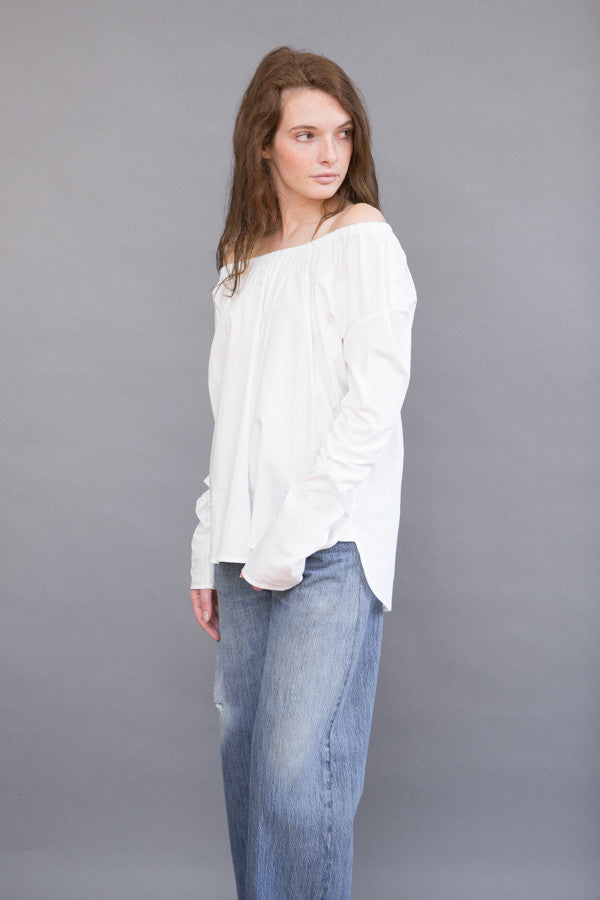 Organic by John Patrick Long Sleeve Off Shoulder Poplin