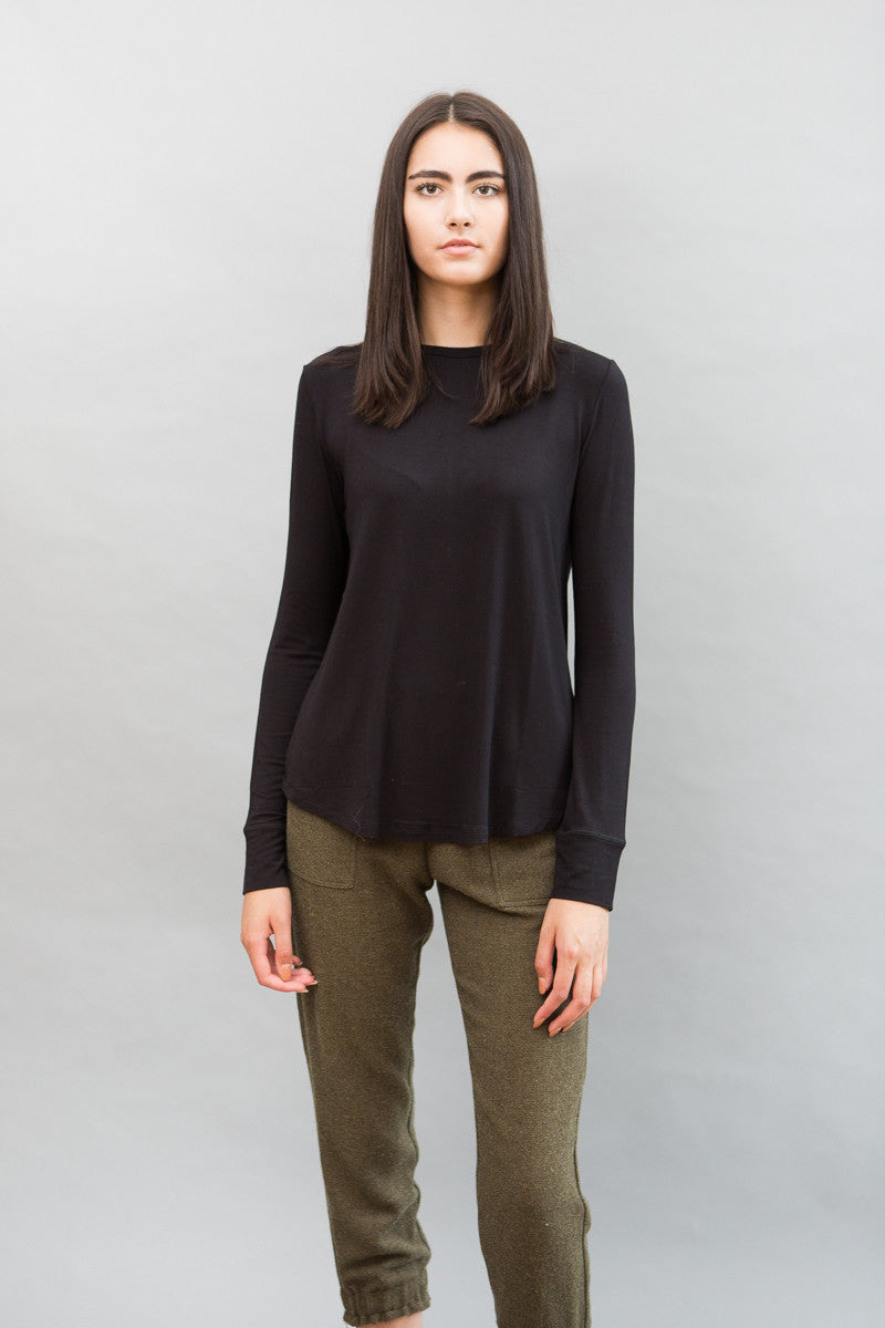 Organic by John Patrick Long Sleeve Pullover Tee - grethen house