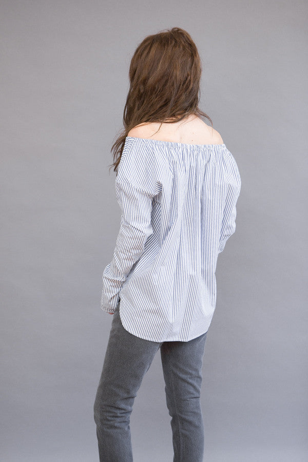 Organic by John Patrick Long Sleeve Shoulder Stripe