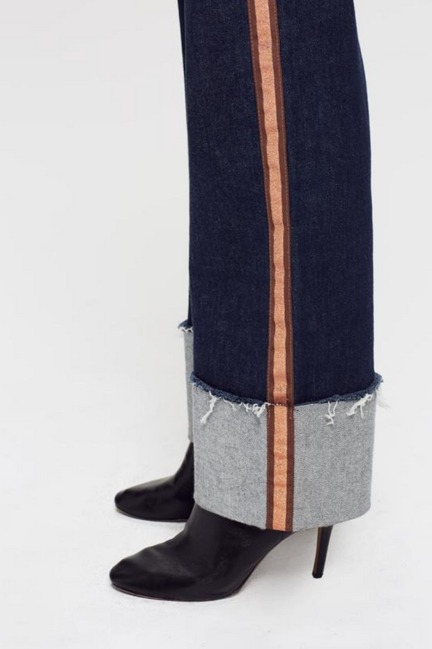 Mother Denim The Duster Cuff Fray