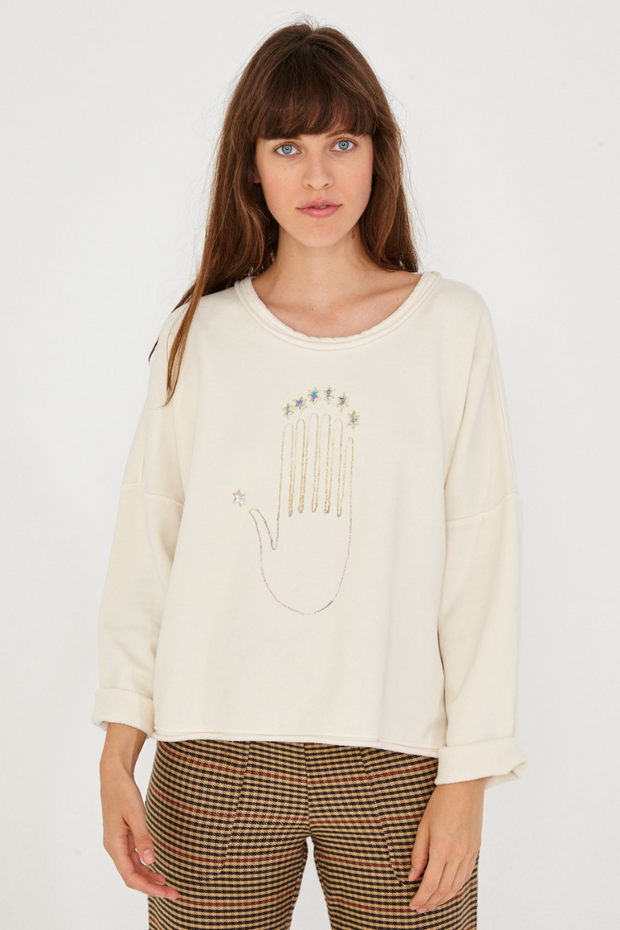 Raquel Allegra Palm Sweatshirt