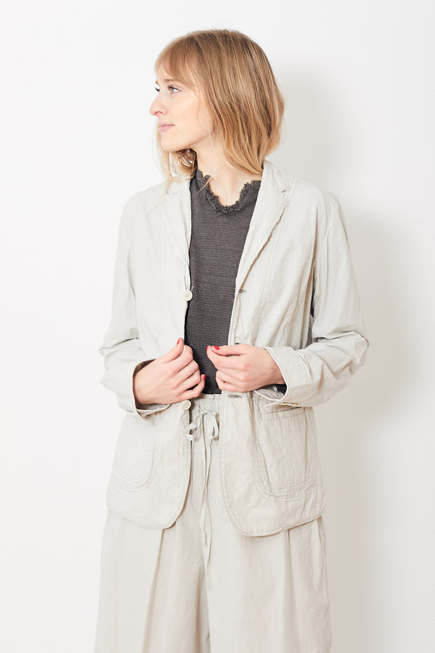 Pas de Calais Raw Hem Cotton Jacket