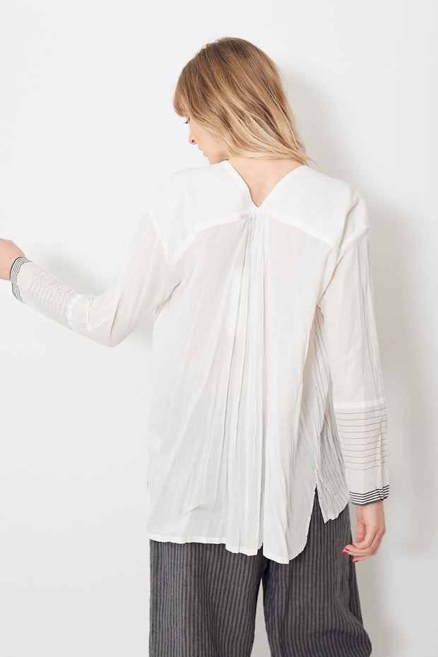 Pas de Calais V Neck Striped Blouse