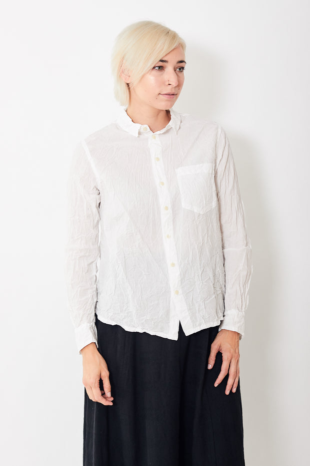 Pas de Calais Crinkle Button Down Blouse