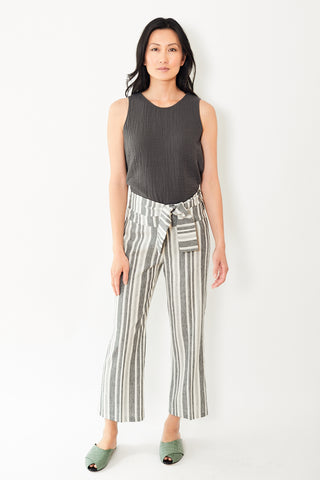 Peace of Cloth Noah Crop Pant with Sash