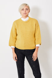 Peserico Cropped Sleeve Chunky Knit Sweater