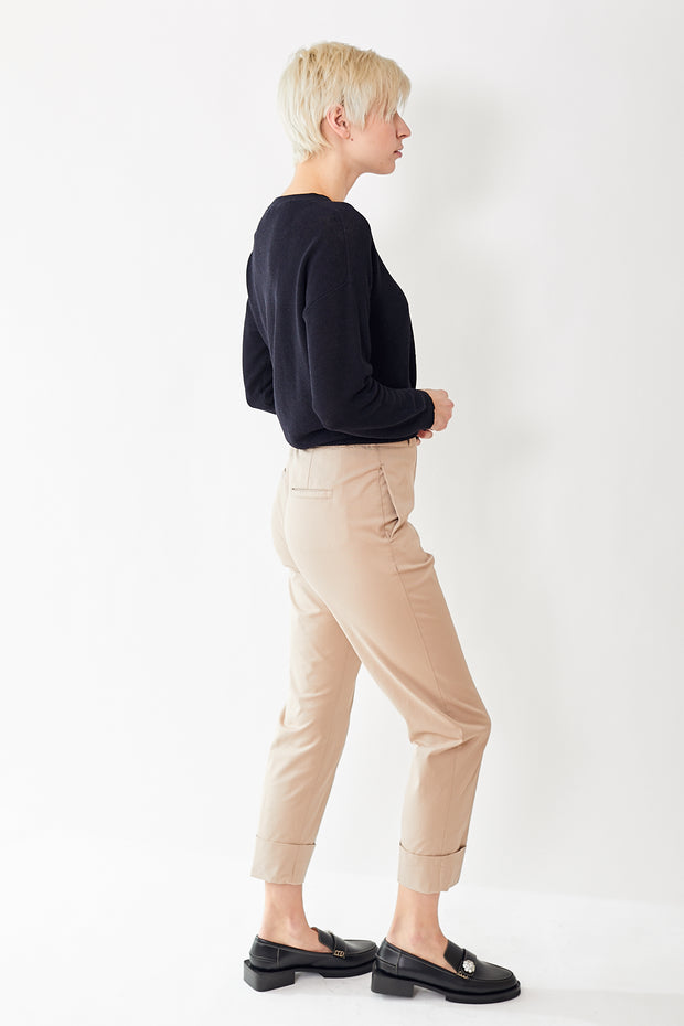 Peserico Cuffed Trouser w/ Belt