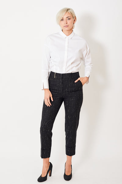 Peserico Faded Pinstripe Trousers