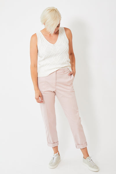 Peserico Front Seam Cuffed Pant