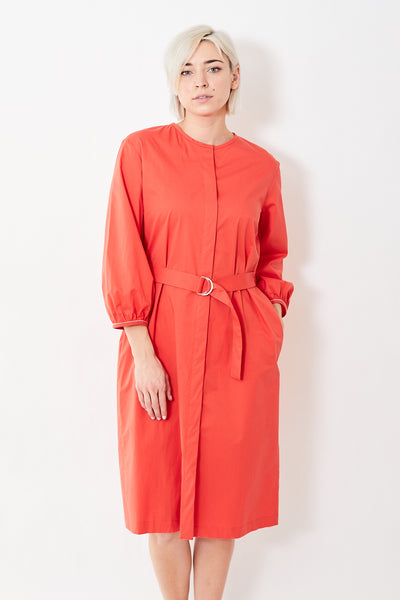 Peserico L/S Half Belt Midi Dress