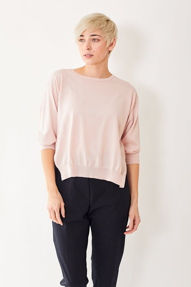 Peserico Oversize Crop Sleeve Pullover