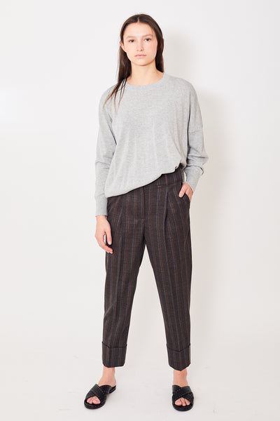 Peserico Pleat Front Trouser w/Metal Detail