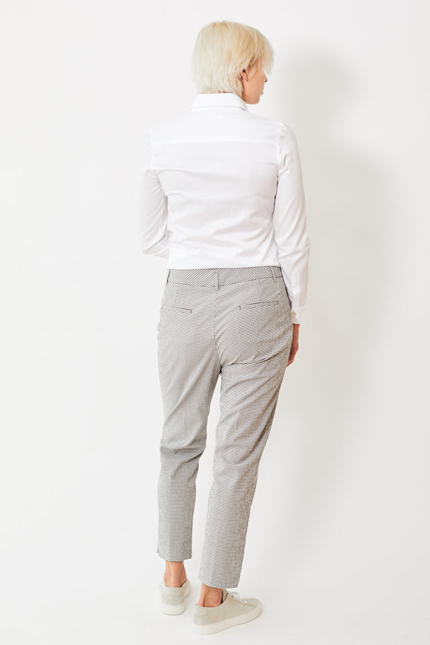 Peserico Small Check Pant w/Ankle Slit