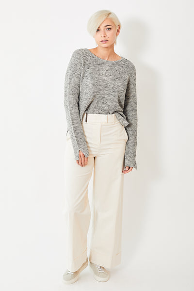 Peserico Wide Leg Cuffed Trouser