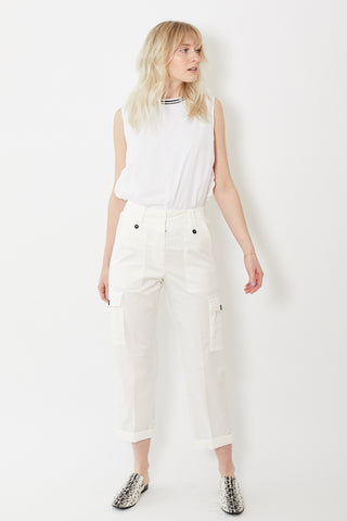 Peserico Cotton Painter Pants Ivory