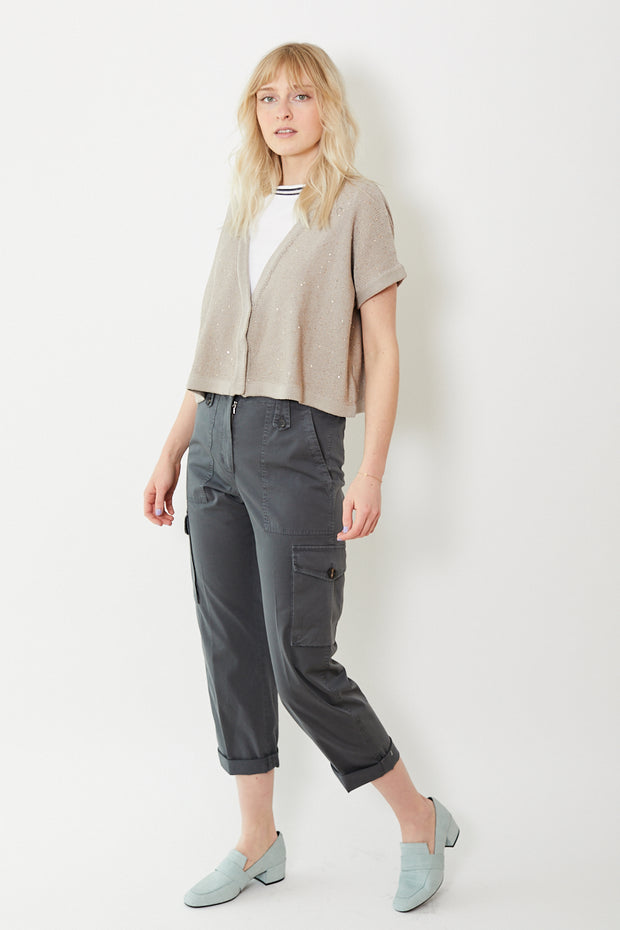 Peserico Cotton Painter Pants Slate