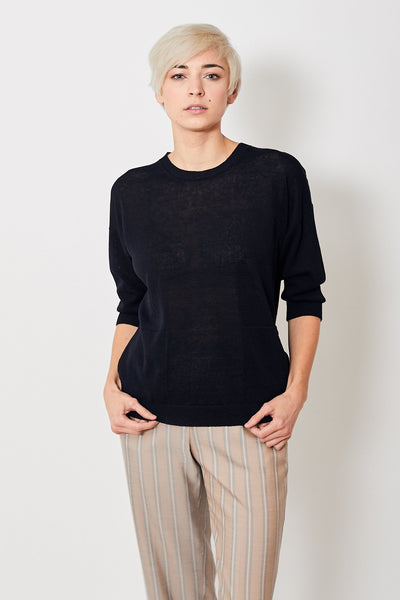 Peserico Crop Sleeve Pullover w/ Pockets