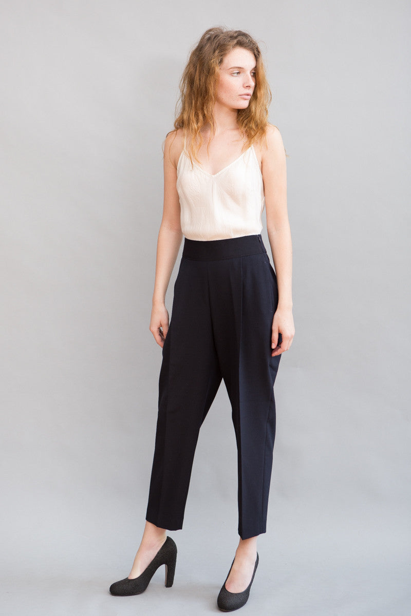 Peserico Elastic Front Pleat Pant - grethen house