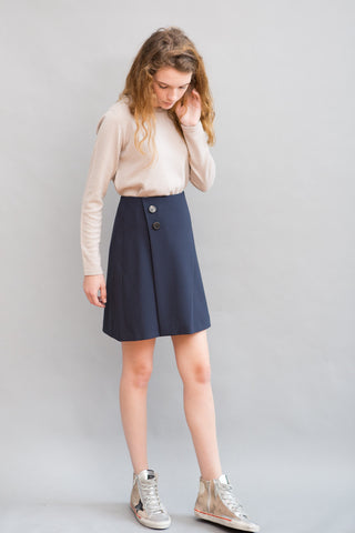 Peserico Faux Wrap Skirt - grethen house