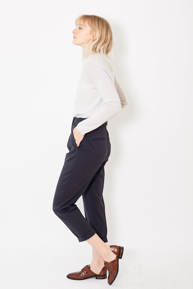 Peserico High Waist Pleated Front Trouser