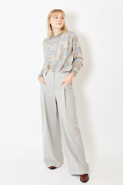 Peserico High Waisted Wide Leg Pant