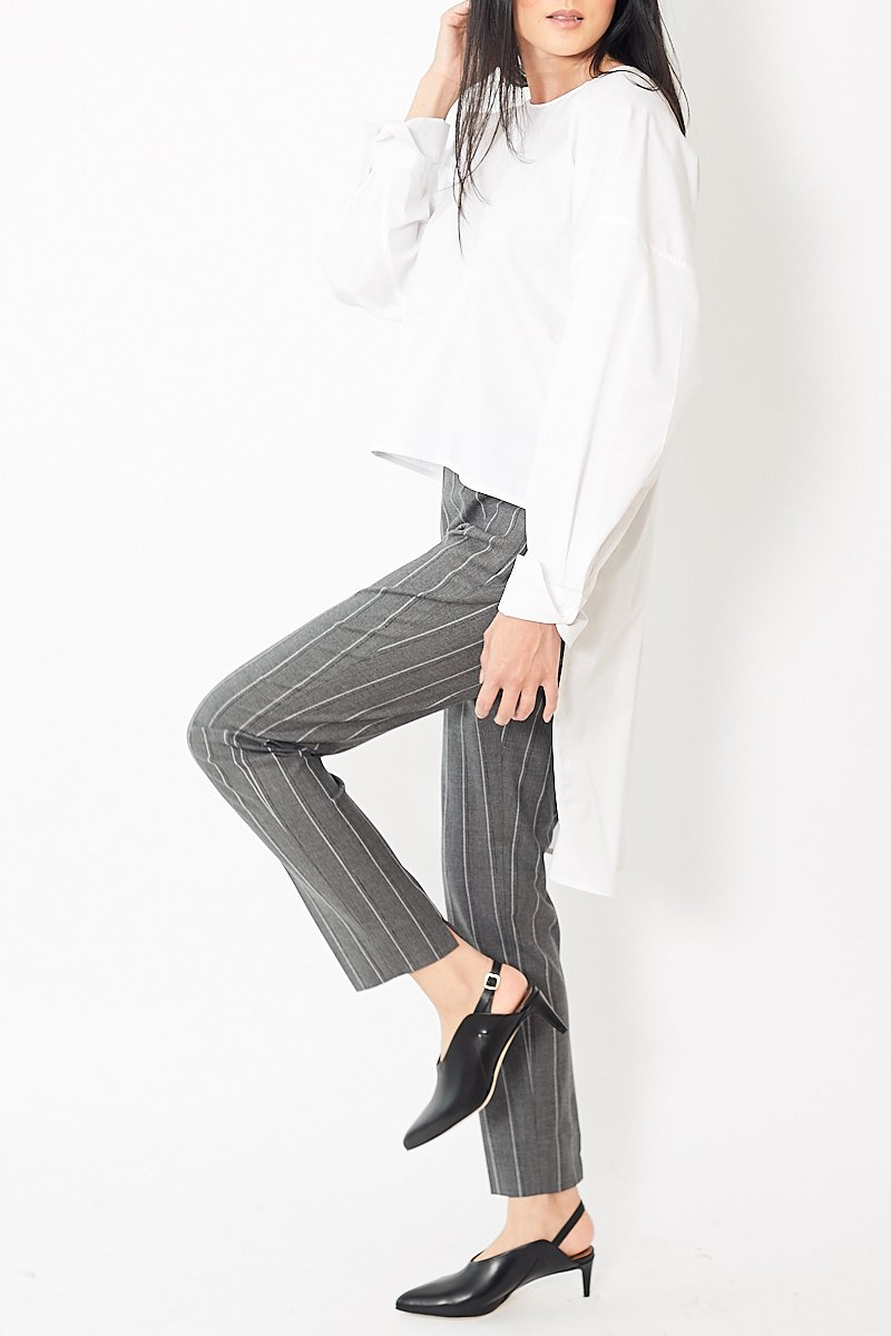 Peserico Narrow Striped Side Zip Pant